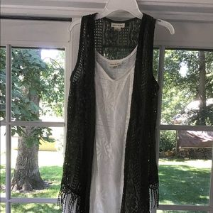 Dresses & Skirts - White dress with Army Green Vest